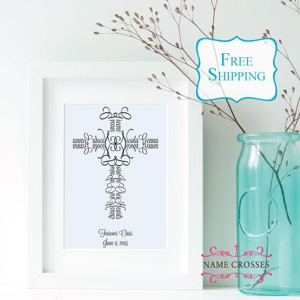Adoption Cross gift by Name Crosses - www.namecrosses.com