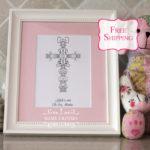 Baby Girl Cross gift by Name Crosses - www.namecrosses.com