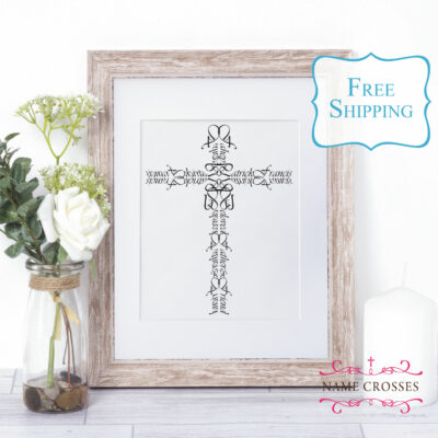 Personalized Name Cross for Father or Brother - www.namecrosses.com