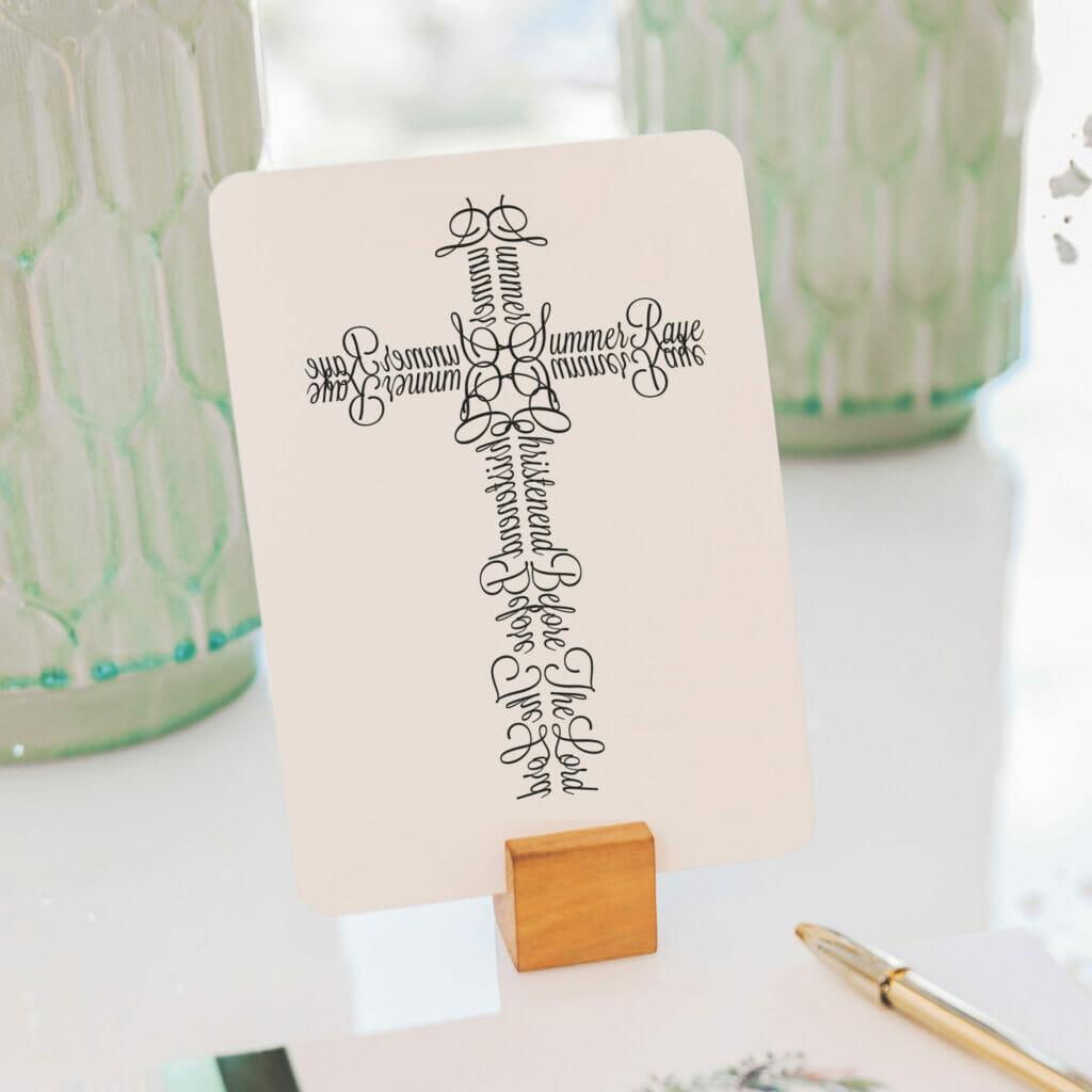 Cross printed on paper